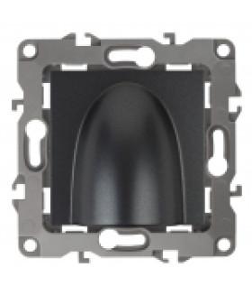Вывод кабеля, Эра12, графит 12-6003-12 ЭРА