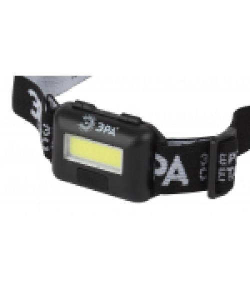 Фонарь GB-607 ЭРА налобный с влагозащитой 3Вт COB LED Extra, 3хААА, бл