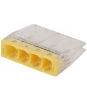 Клемма СМК компактная с пастой серии 244, 4 отверстия, 0,5-2,5 мм2 NO-224-42 ЭРА