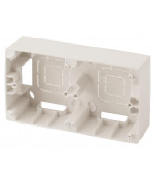 Коробка наклад. монтажа 2 поста, Эра12, слоновая кость 12-6102-02 ЭРА