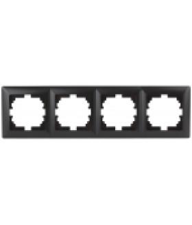 Рамка на 4 поста, СУ, Solo, антрацит 4-504-05 Intro