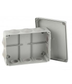 Коробка распаячная открытой установки КОРv 150х110х70мм на винтах 10 гермовводов IP55 (30/540) ЭРА