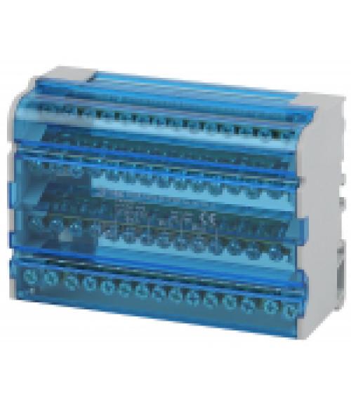 Шины на DIN-рейку в корпусе (кросс-модуль) ШНК 4х15 3L+PEN NO-224-17 ЭРА