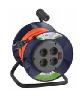 Удлинитель силовой ЭРА RPx-4s-2x1.0-40m на п. катушке б/з 4 гн 40м ПВС 2х1