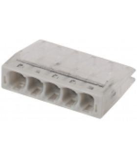 Клемма СМК компактная с пастой серии 245, 5 отверстий, 0,5-2,5 мм2 NO-224-43 ЭРА