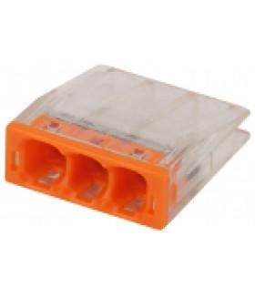 Клемма СМК компактная серии 203, 3 отверстия, 0,5-2,5 мм2 NO-224-23 ЭРА