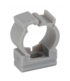 Крепеж-клипса (серый) для трубы d 16мм с фиксатором (100/1000/40000) ЭРА