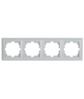 Рамка на 4 поста, СУ, Solo, белый 4-504-01 Intro