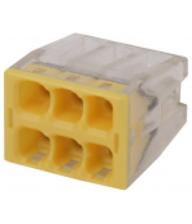 Клемма СМК компактная с пастой серии 246, 6 отверстий, 0,5-2,5 мм2 NO-224-44 ЭРА