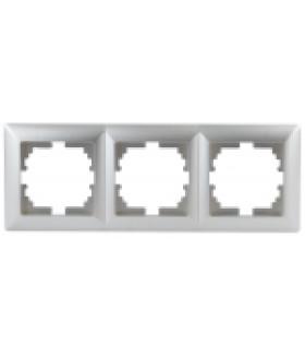 Рамка на 3 поста, СУ, Solo, алюминий 4-503-03 Intro