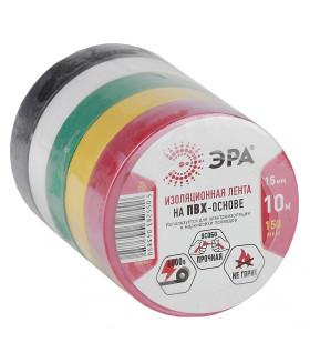 Изоляционная лента_40 напр ЭРА ПВХ-изолента 15мм*10м 5цветов 43966/43959
