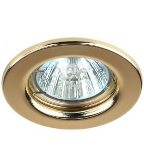 Точечный светильник ЭРА штампованный MR16,12V/220V, 50W золото ST1 GD