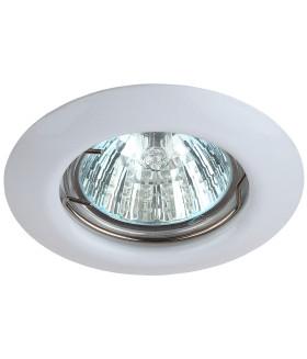 Точечный светильник ЭРА штампованный MR16,12V/220V, 50W белый ST3 WH