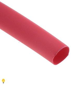 Термоусаживаемая трубка 2/1, красная, 1 метр (SBE-HST-2-r)
