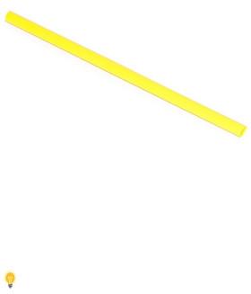 Термоусаживаемая трубка 2/1, желтая, 1 метр (SBE-HST-2-y)
