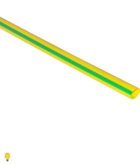 Термоусаживаемая трубка 2/1, желто-зеленая, 1 метр (SBE-HST-2-yg)