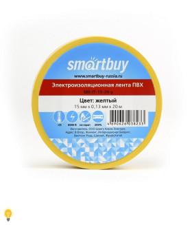 Изолента Smartbuy, 0.13х15мм, 20 метров, желтая (SBE-IT-15-20-y)