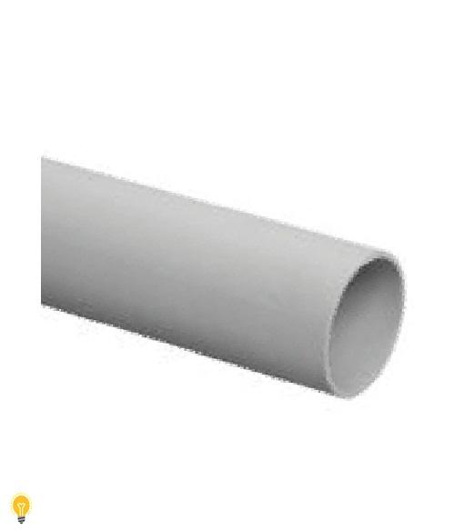 Труба гладкая ЭРА жесткая (серый) ППВХ d 63мм (3м) TRUB-63-PVC