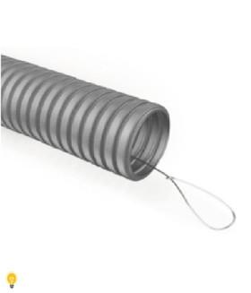 Труба гофрированная ПВХ ЭРА (серый) ПВХ d 20мм с зонд. легкая 100м (10) GOFR-20-100-PVС