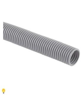 Труба гофрированная ПВХ ЭРА (серый) ПВХ d 32мм с зонд. легкая 50м (10) GOFR-32-50-PVС