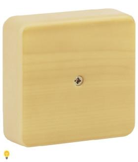 Коробка распаячная 75х75х20 (без клеммы) сосна IP40 ЭРА