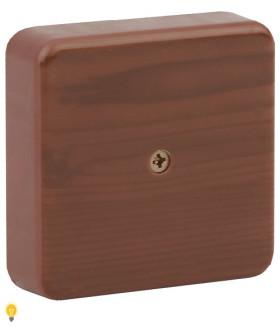 Коробка распаячная 75х75х20 (без клеммы) дуб IP40 ЭРА