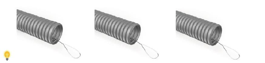 Гофрированная труба ПВХ (с зондом)