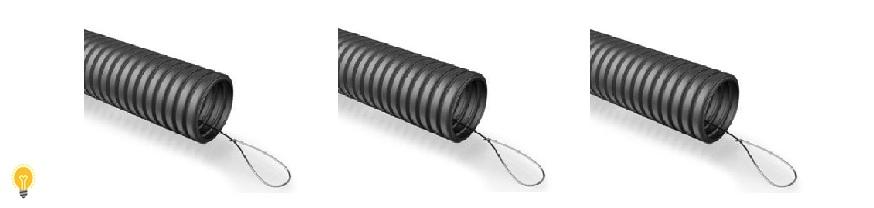 Гофрированная труба ПНД (с зондом)