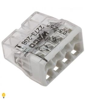 8-проводная клемма СМК, 0,5-2,5 мм2, прозрачный корпус 2273-208