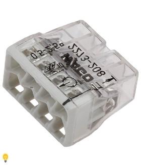 8-проводная клемма СМК, 0,5-2,5 мм2, с конт. пастой 2273-248