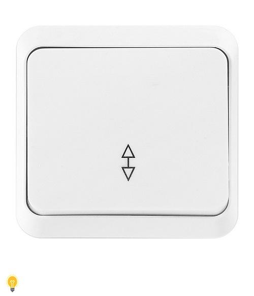 """Выключатель проходной 1-клавишный 10А белый """"Юпитер"""" (SBE-03w-10-SW12-0)"""