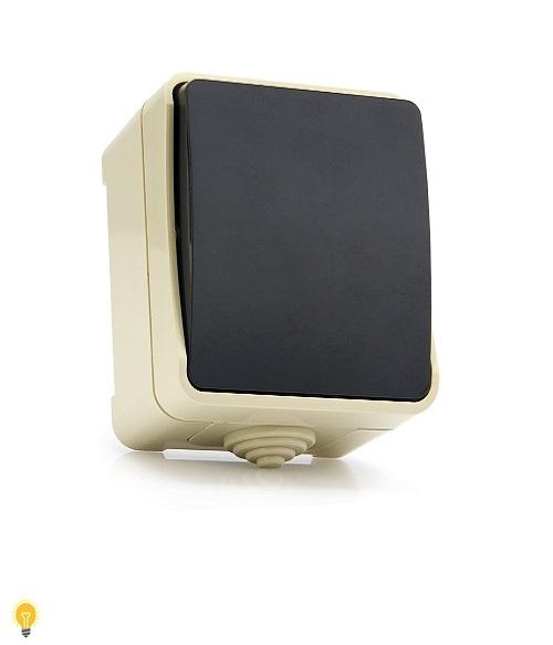 """Выключатель 1-клавишный 10А, IP 54 """"Сатурн"""" (SBE-04w-10-SW1-0)"""