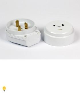 Разъем Smartbuy, для плиты 32А 250В 2P+PE (ОУ) пластиковый белый (SBE-IS1-250-P)