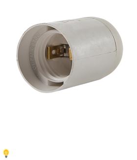 Патрон Е27 пластиковый подвесной, термостойкий пластик, белый (SBE-LHP-s-E27)