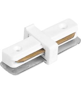 Коннектор прямой для шинопровода. белый. LD1000