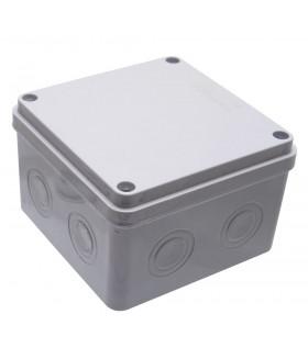 Коробка разветвительная STEKKER EBX30-03-54 110*110*74 мм, 8 вводов, IP65, крышка на винтах, светло-серая 39174