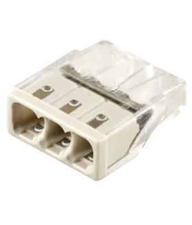 Клемма пружинная компактная STEKKER LD2273-203. 3-проводная 0.5-2.5мм