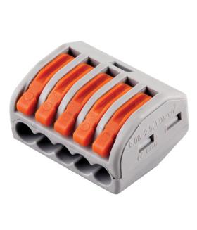 Клемма пружинная универсальная STEKKER LD222-415. 5-проводная 0.08 - 2.5/4 мм