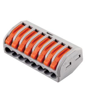 Клемма пружинная универсальная STEKKER LD222-418. 8-проводная 0.08 - 2.5/4 мм