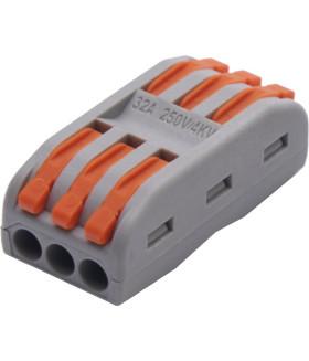 Клемма пружинная универсальная STEKKER LD222-423. 6-проводная 0.08 - 2.5/4 мм
