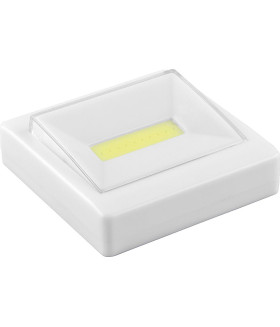 Светодиодный светильник-кнопка 1LED 3W (3*AAA в комплект не входят). 85*85мм. белый. FN1206