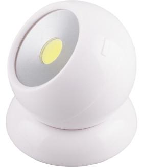 Светодиодный поворотный светильник 1LED 3W (3*AAA в комплект не входят). 75*80мм. белый. FN1209