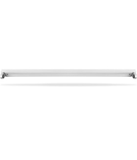 Светильник линейный светодиодный. под лампу типа Т8 (ДПО) FERON AL4001. 220-240. IP20. цвет белый. корпус штампованная сталь. 1230*33*17 мм