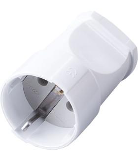 Розетка переносная STEKKER PST16-40-200 на 1 гнездо. с заземлением. Материал: пластик. цвет белый