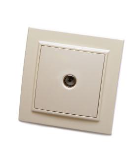 Розетка скрытой установки STEKKER PST10-9008-02 на 1 гнездо. -. Материал: ABS пластик. цвет слоновая кость