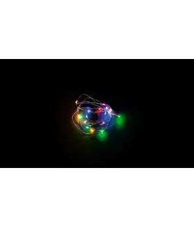 Гирлянда линейная от батареек FERON CL570. 20LED. (мультиколор). статичная (постоянного свечения). 2м+0.5м прозрачный шнур