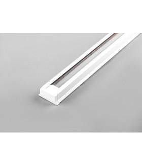 Шинопровод для трековых светильников. белый. 1м. в наборе токовод. заглушка. крепление. CAB1003