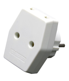 Сетевой разветвитель STEKKER ADP10-16-20 без заземления. количество присоединяемых устройств 3