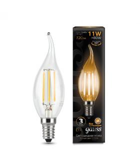 Лампа Gauss LED Filament Свеча на ветру E14 11W 720lm 2700K 1/10/50