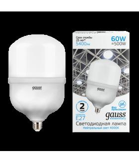 Лампа Gauss Elementary LED T160 E27 60W 5400lm 180-240V 4000K 1/6
